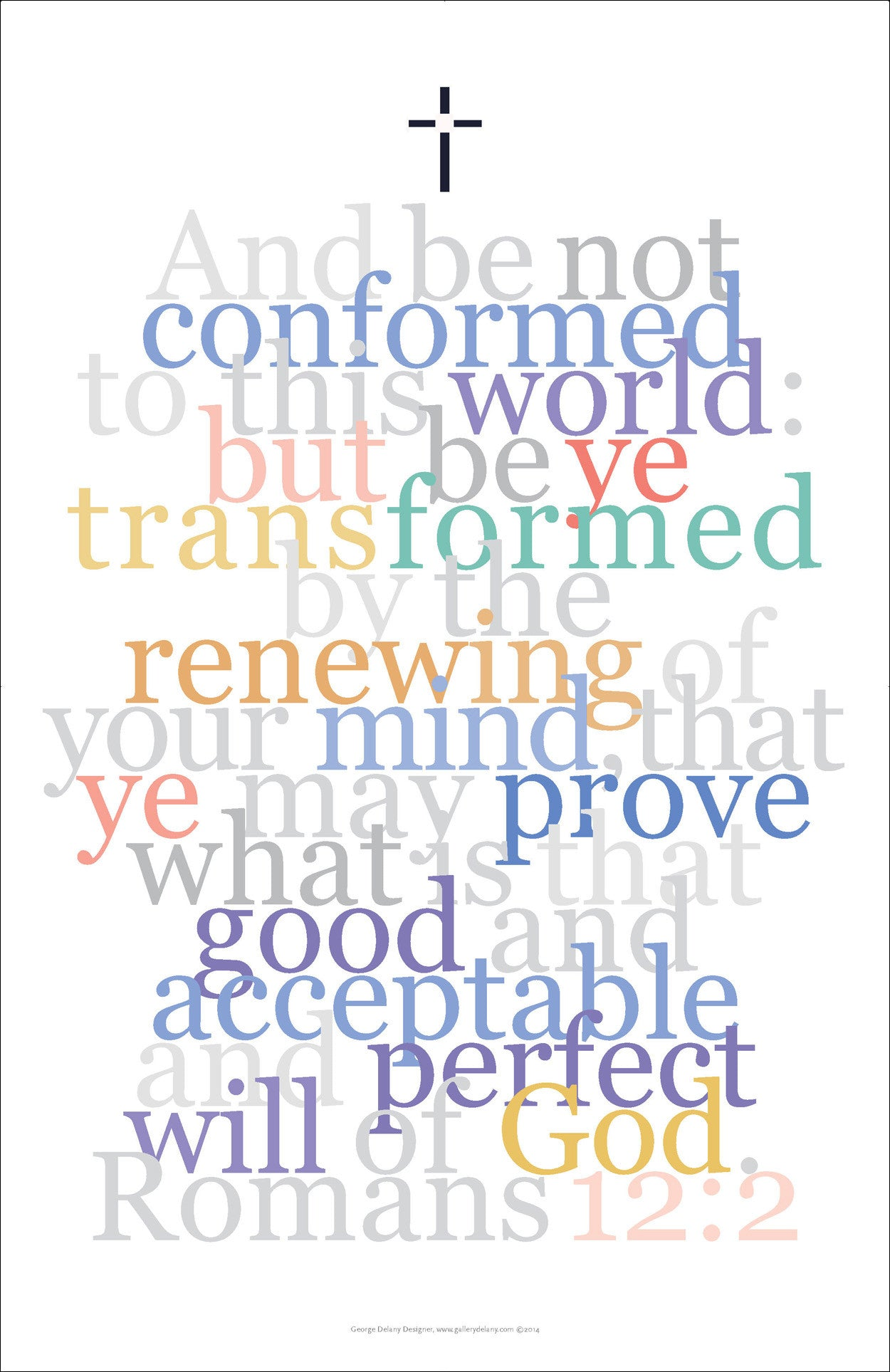 "Biblical Digital Art Print #14, Romans 12:2, ""And be not conformed to this world..."""