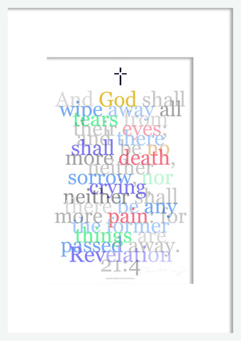 "Bible Digital Art Print #18 Revelation 21:4, ""And God shall wipe away all tears..."""