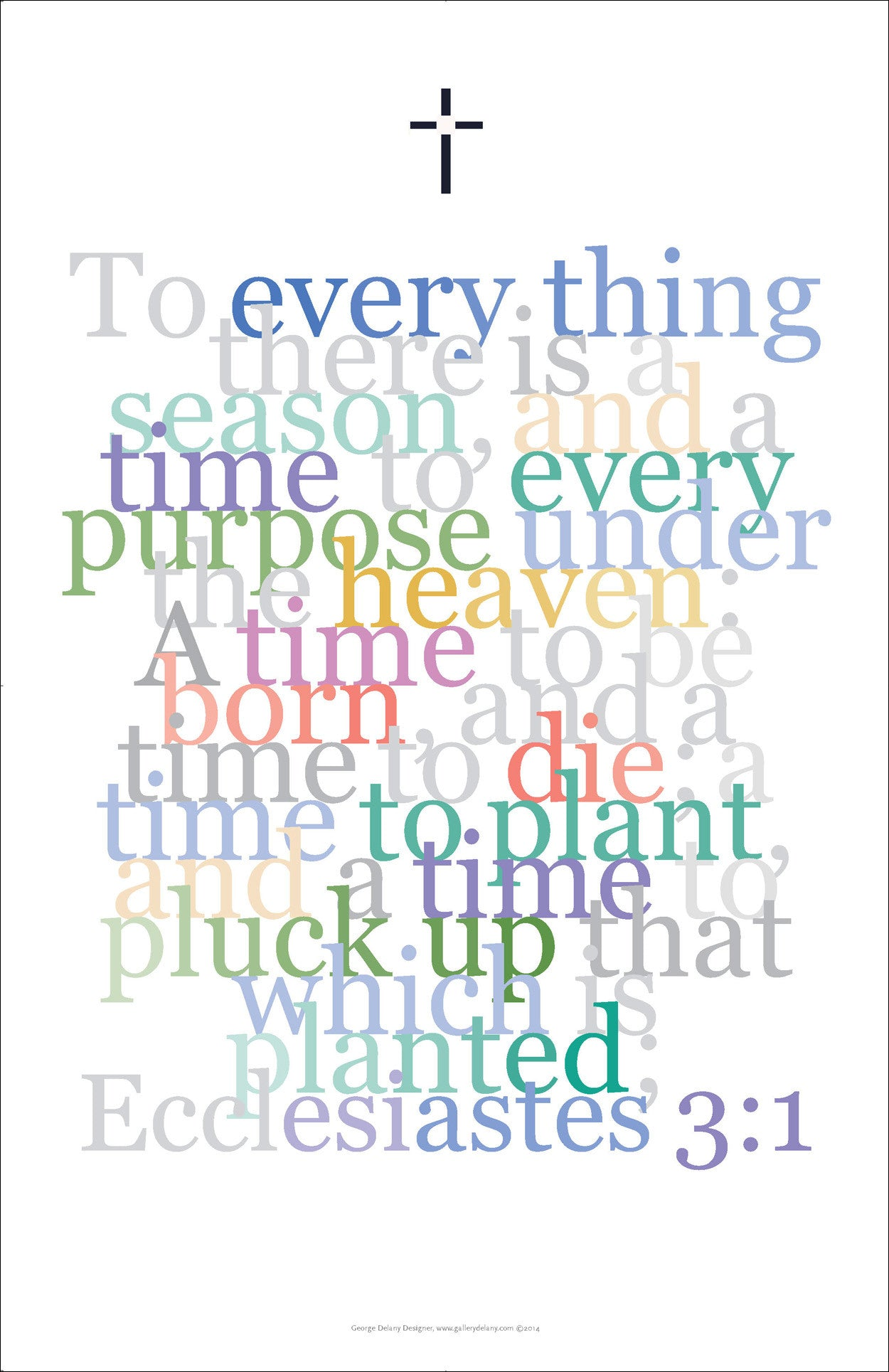 "Bible Digital Art Print #19, Ecclesiastes 3:1, ""To everything there is a season..."""