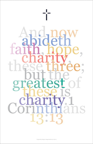 "Bible Digital Art Print #20, 1 Corinthians 13:13, ""And now abideth faith, hope and charity..."""