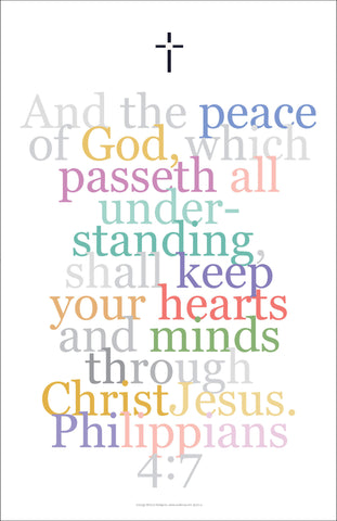 "Bible Digital Art Print #21 Philippians 4:7, ""And the peace of God..."""