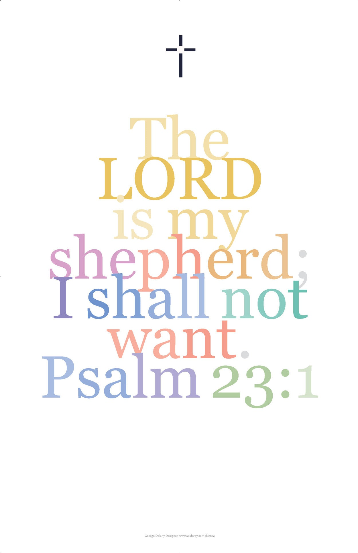 "Bible Digital Art Print #25, Psalm 23:1, ""The Lord is my shepherd I shall not want..."""