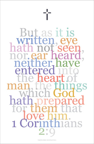 "Bible Digital Art Print #26, 1 Corinthians 2:9, ""But it is written, eye hath not seen..."""