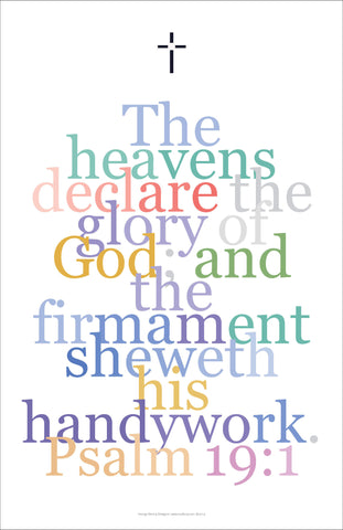 "Bible Digital Art Print #27, Psalm 19:1 ""The heavens declare the glory of God..."""