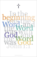 "Biblical Digital Art Print #2, John 1:1, ""In the Beginning..."""