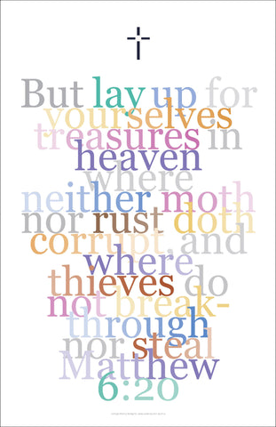 "Bible Digital Art Print #31 Matthew 6:20 ""But lay up for yourselves treasures..."""