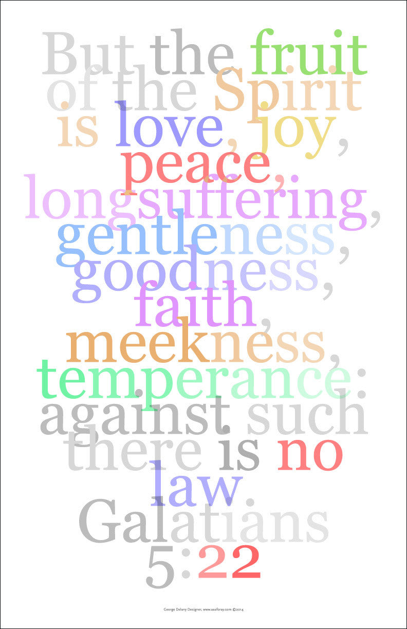"Bible Wall Art 33, Galatians 5:22. ""But the fruit of the spirit is love, joy, peace.."""
