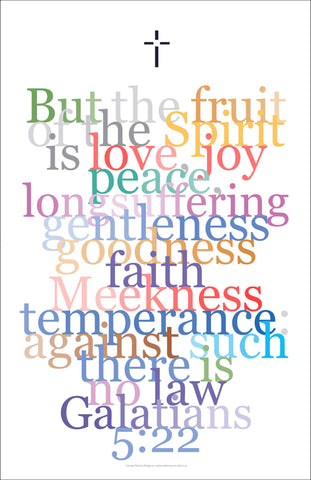 "Bible Digital Art Print #33, Gallatians 5:22 ""But the fruit of the spirit..."""