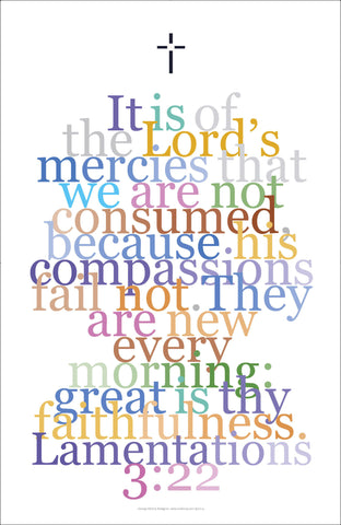 "Bible Digital Art Print #36, Lamentations 3:22, ""It is of the Lord's mercies..."""