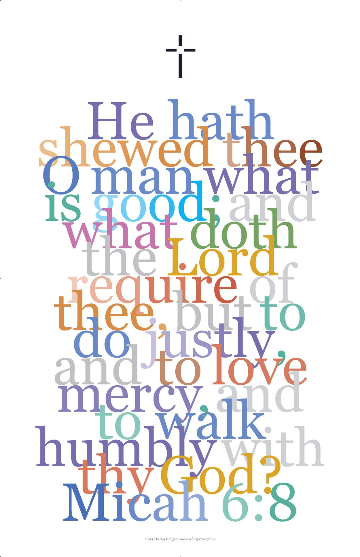 "Bible Digital Art Print #40, Micah 6:8, ""He hath shewed thee .."""