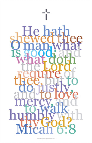 "Bible Digital Art Print #40 Micah 6:8 ""He hath showed thee o man, what is good..."""