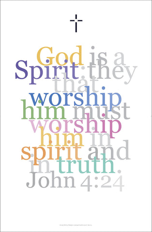 Biblical Art Print #6 John 4:24 God is a Spirit...