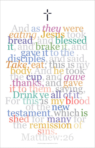 "Biblical Digital Art Print #9, Matthew 26:26, ""And as They Were Eating..."""