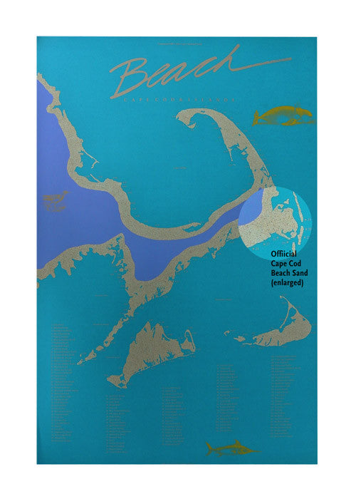 Cape Cod Beach Poster Wall Art