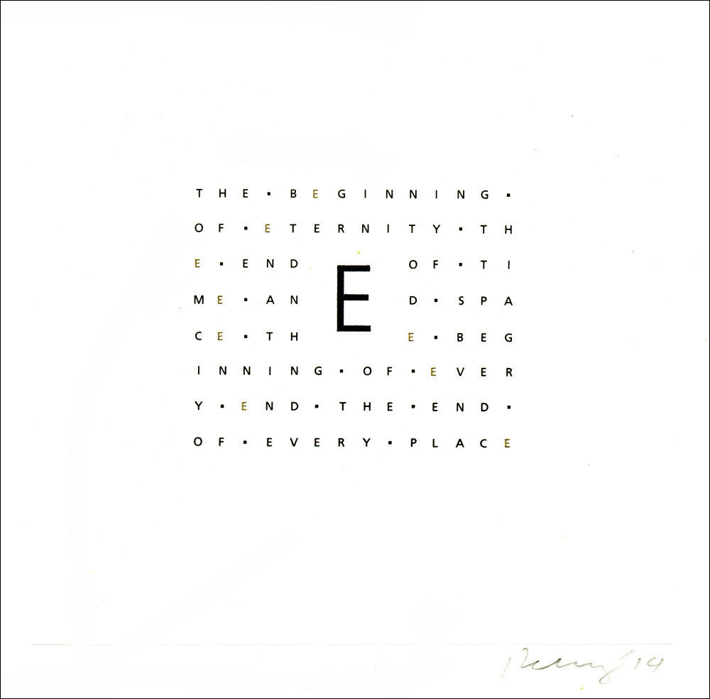 The Letter E, Engraved Religious Wall Art #A153