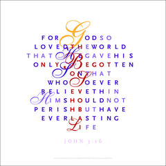 New Wall Art Easter Offering #105, Option C, John 3:16