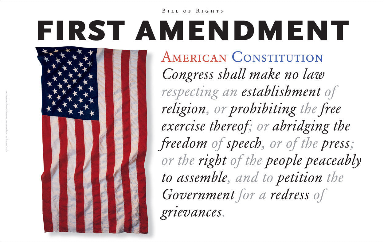 First Amendment to the US Constitution #walldecor