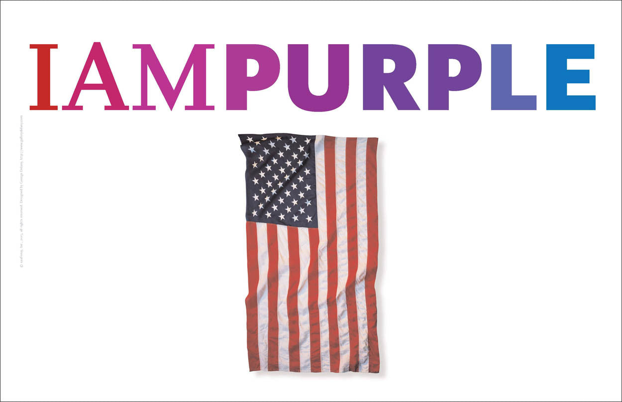 """I AM Purple 1"" American Revival Series™, USA Wall Art #A168"