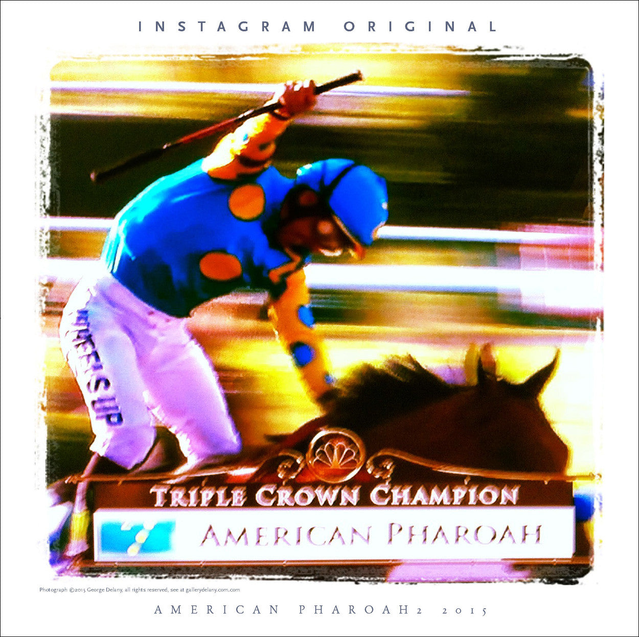 Instagram Wall Art #36 American Pharoah I, Triple Crown Winner