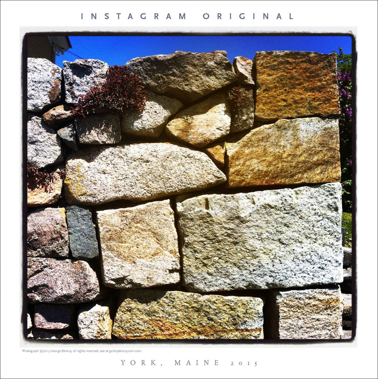 Instagram Wall Art #47 Stone Wall