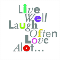 Live Well in Color, Wall Art 777