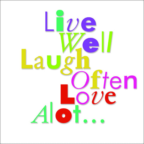 Live Well in Color, Wall Art 778
