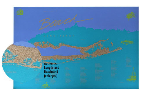 Long Island Beach Poster Wall Art