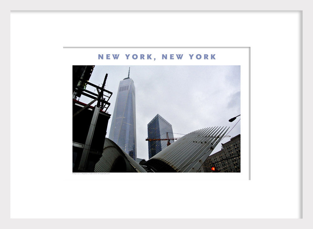 New Construction Beneath Freedom Tower, New York Photo Poster Collection #406