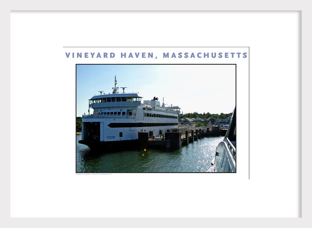 Arriving Vineyard Haven, Martha's Vineyard Wall Art #464 by George Delany