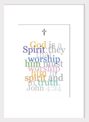 Biblical Digital Art Print #6, John 4:24, God is a Spirit...