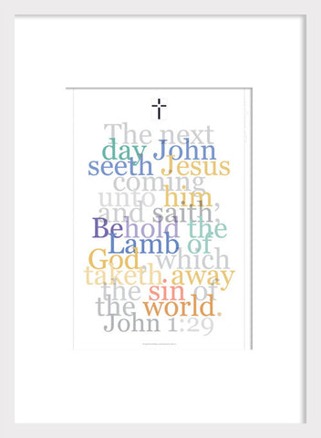 "Biblical Digital Art Print #7, John 1:29, ""The Next Day..."""