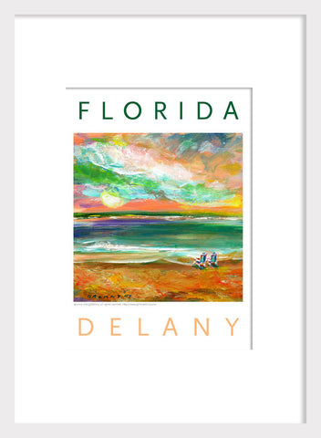 2 Beach Goers in Florida Acrylic Home Decor #510