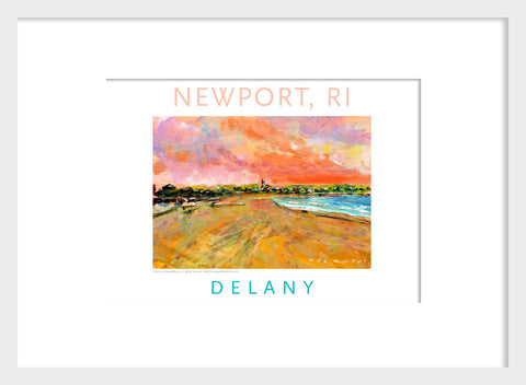 First Beach, Newport, RI Acrylic Wall Art Gift #531