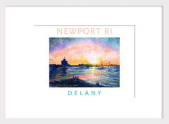 Pell Bridge at Dusk, Newport, RI Acrylic Wall Art #532