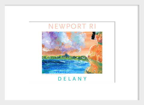 VP HR Takes Dip at First Beach, Newport, RI Acrylic Wall Art #534