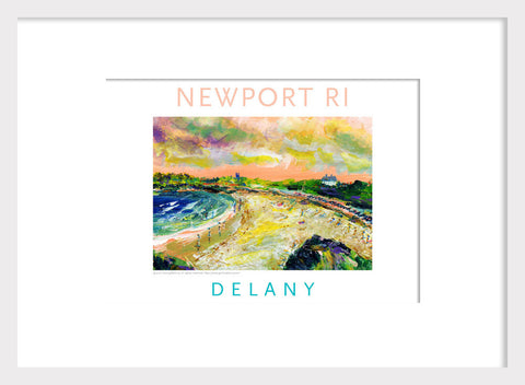 Second Beach, Newport, RI Acrylic Wall Art #535