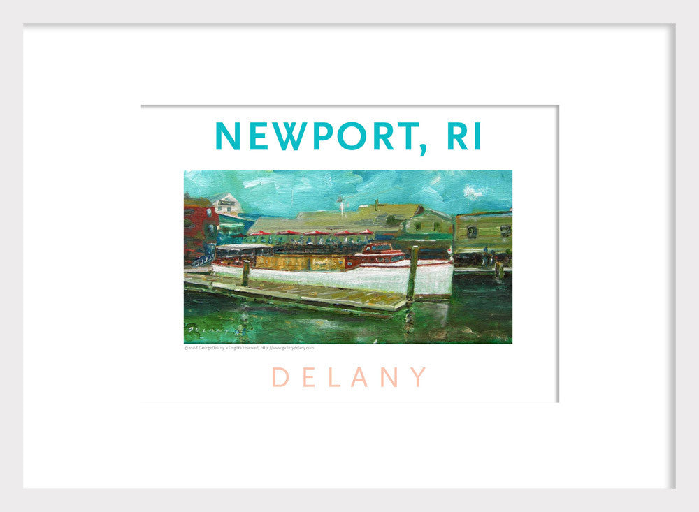 Work in Oil Home Decor Print #567 Newport Harbor, Newport, RI