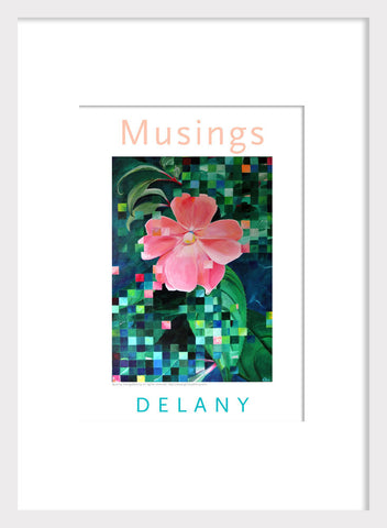 Pixelated Pink Flower Home Decor Print Acrylic Wall Art #663