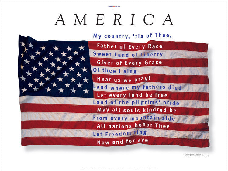 """America,"" poster designed by award-winning designer, George Delany"