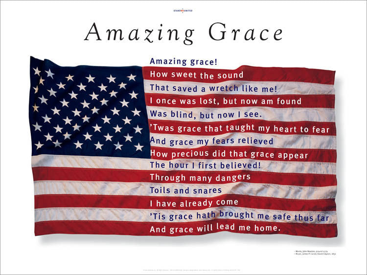 Amazing Grace Poster designed by award-winning designer George Delany