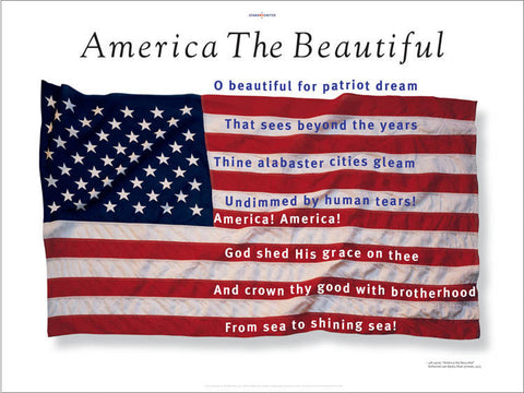 America the Beautiful Poster, designed by award-winning graphic designer, George Delany
