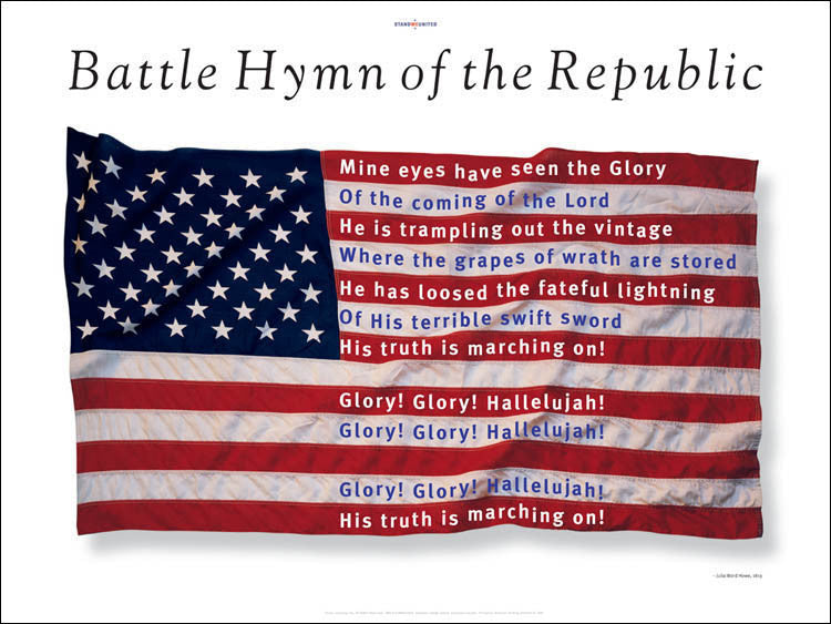 Battle Hymn of the Republic Poster designed by graphic designer, George Delany