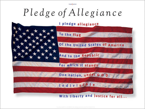 Pledge of Allegiance poster designed by graphic designer, George Delany