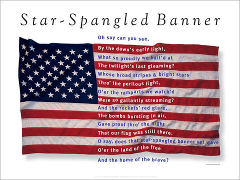 Star-Spangled Banner Art Poster designed by George Delany