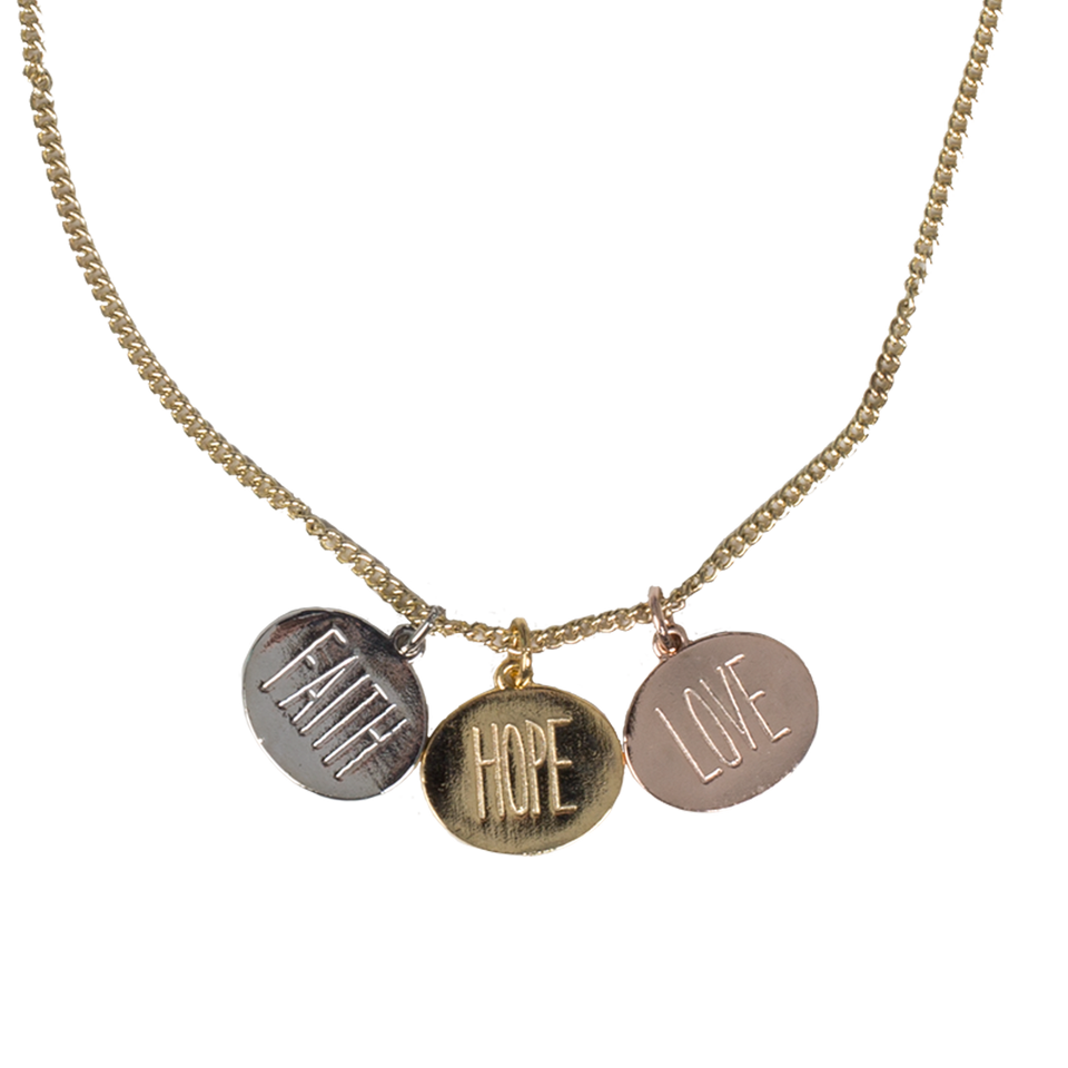 Hope, Faith, Love Necklace