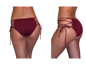 VEDA Lace Up Cheeky Bikini Bottoms