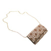 Dark New Taupe and White Amber Clutch - clutch-it-india