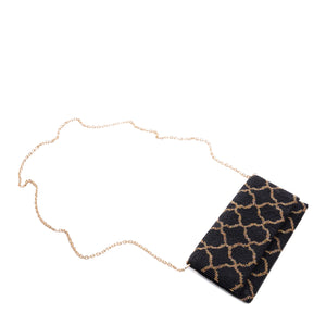 Black and Gold Zarza Clutch - clutch-it-india