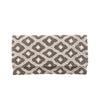Ivory and Silver Nozomi Clutch - clutch-it-india