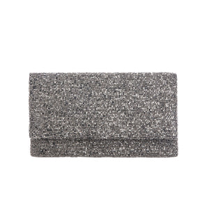 Shining Blue Solid Clutch - clutch-it-india